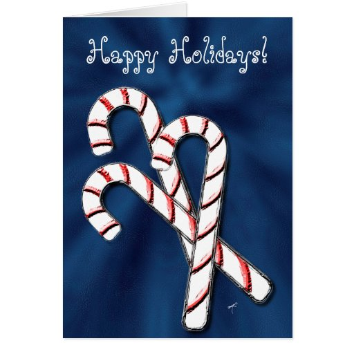 Candy Canes, Blue Cards