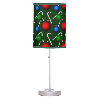 Candy Canes Christmas Ornaments Table Lamp