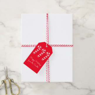 Candy Canes Holidays Your Text (from the Smiths) Gift Tags