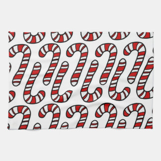 Candy Canes Kitchen Towel
