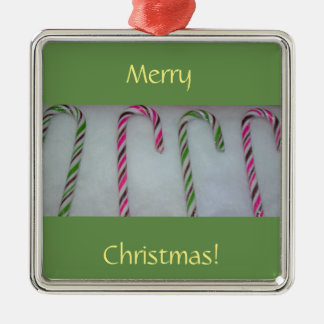 Candy Canes Metal Ornament