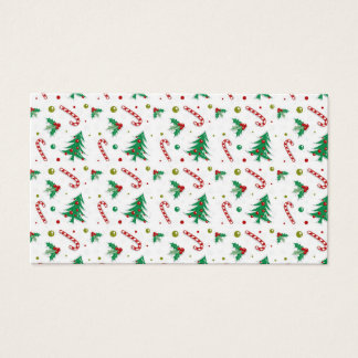 Candy Canes, Mistletoe, and Christmas Trees Business Card