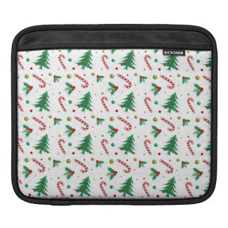 Candy Canes, Mistletoe, and Christmas Trees iPad Sleeve