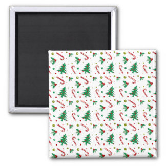 Candy Canes, Mistletoe, and Christmas Trees Magnet