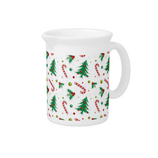 Candy Canes, Mistletoe, and Christmas Trees Pitcher