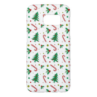 Candy Canes, Mistletoe, and Christmas Trees Samsung Galaxy S7 Case
