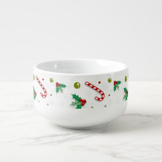 Candy Canes, Mistletoe, and Christmas Trees Soup Mug
