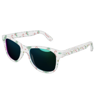 Candy Canes, Mistletoe, and Christmas Trees Sunglasses