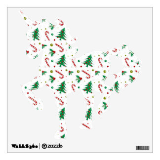 Candy Canes, Mistletoe, and Christmas Trees Wall Decal