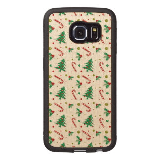 Candy Canes, Mistletoe, and Christmas Trees Wood Phone Case