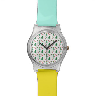 Candy Canes, Mistletoe, and Christmas Trees Wristwatch