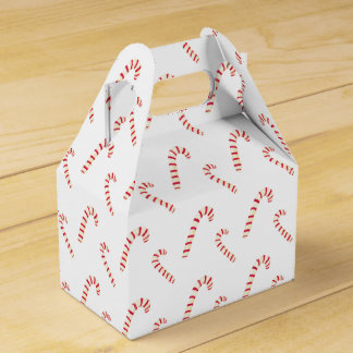 Candy Canes Pattern Favor Box