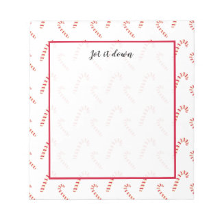 Candy Canes Pattern Notepad