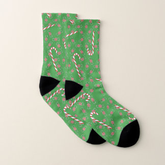 Candy Canes & Peppermints Green Christmas 1