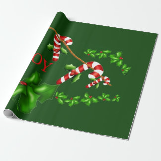 Candy Canes Photo Gloss Wrapping Paper
