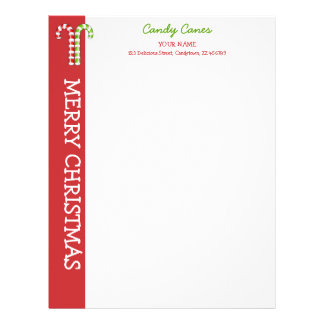 Candy Canes red green Letterhead