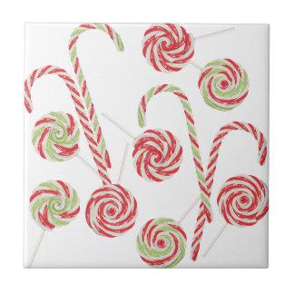 Candy Canes Set Ceramic Tile