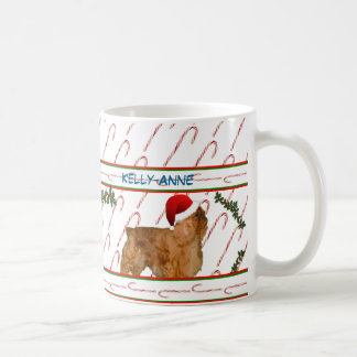 Candy Canes & Spaniels Classic White Coffee Mug