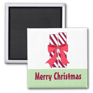 Candy Canes Square Magnet