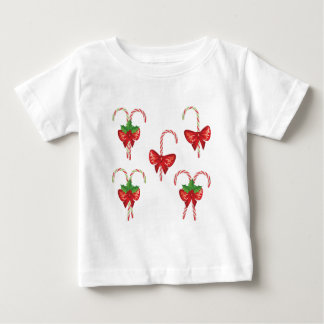 Candy Canes with Bow Set 2 Baby T-Shirt