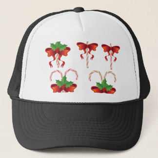 Candy Canes with Bow Set Trucker Hat
