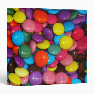 Candy cased choclate buttons Texture Template 3 Ring Binders