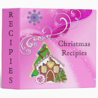 Candy Christmas Recipies Avery Binder