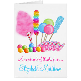 Candy Circus Note Cards