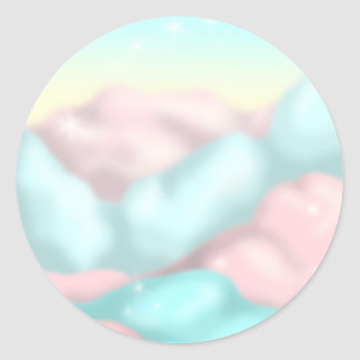 Candy Clouds Classic Round Sticker