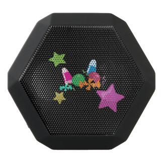Candy Collage Halloween Design Black Bluetooth Speaker