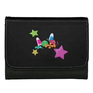 Candy Collage Halloween Design Leather Wallets