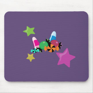 Candy Collage Halloween Design Mouse Pad