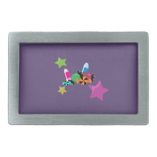 Candy Collage Halloween Design Rectangular Belt Buckle