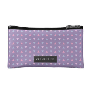 Candy Color Triangle Pattern Makeup Bag