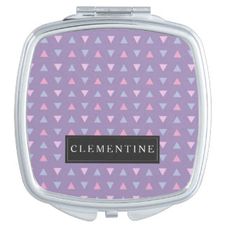 Candy Color Triangle Pattern Travel Mirror