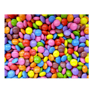 Candy: Colorful Confectionery Postcard