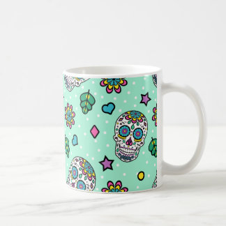 Candy Colorful Sugar Skull Coffee Mug