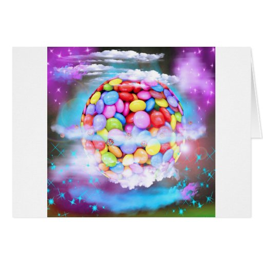 Candy Colorful Sweet Dessert Party Love Destiny Greeting Cards