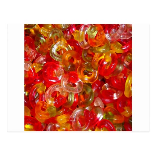 Candy Colorful Sweets Party Birthday Shower Art Post Cards