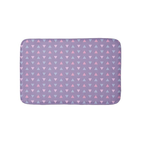 Candy Colour Triangle Pattern Bath Mat