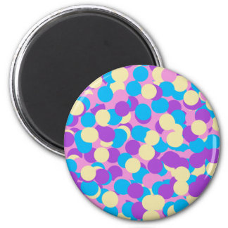 Candy Confetti 2 Inch Round Magnet