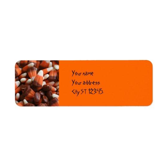 Candy Corn Address Label