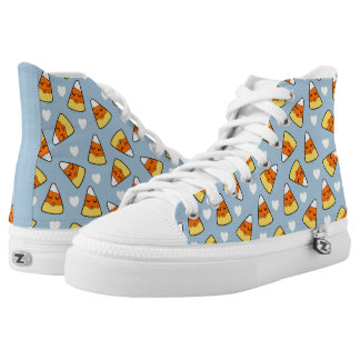 Candy Corn and Heart Pattern High Tops