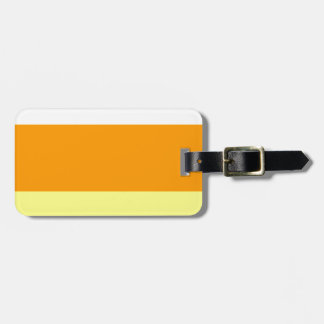 Candy Corn Color Luggage Tag