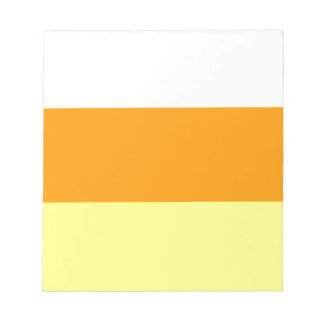 Candy Corn Color Notepad