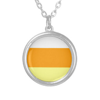 Candy Corn Color Silver Plated Necklace