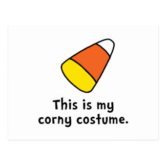 Candy Corn Corny Costume Postcard