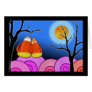 Candy Corn Couple, Halloween Greeting Card