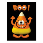 Candy Corn Halloween Boo Party Postcard