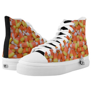 Candy Corn Halloween Orange Black High Top Sneaker